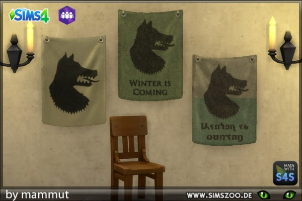 Blackys Sims 4 Zoo: Banner Wolf 1 by mammut