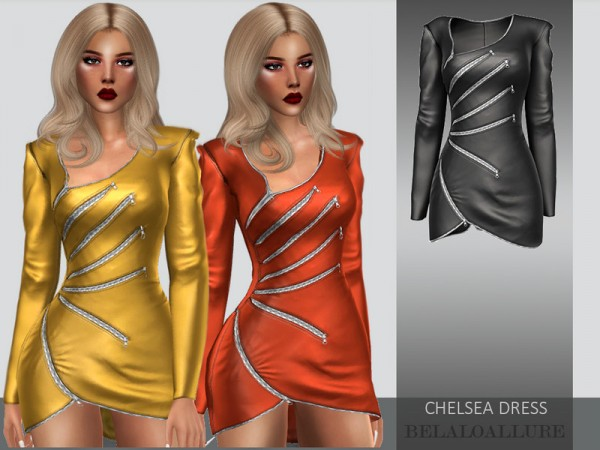 The Sims Resource: Chelsea dress by belal1997