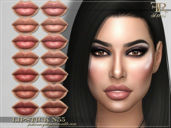 The Sims Resource: Lipstick N55 by FashionRoyaltySims