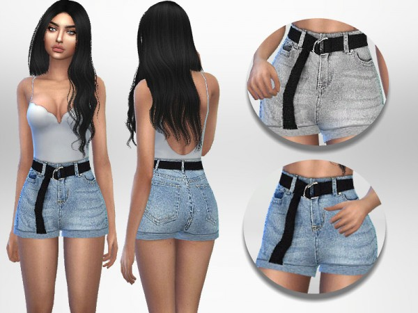 The Sims Resource: Belted Shorts by Puresim