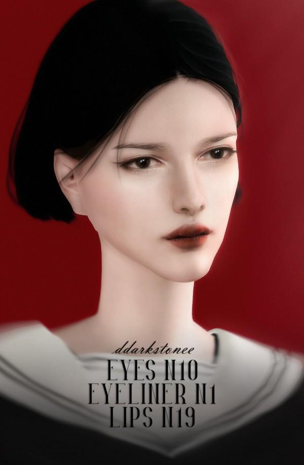 DDarkstonee: Eyes N10, Eyeliner N1 and Lips N19