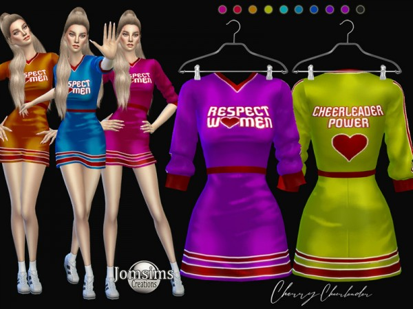 The Sims Resource: Cherry cheerleader dress by jomsims