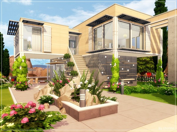 The Sims Resource: Concrete Thought House by Lhonna