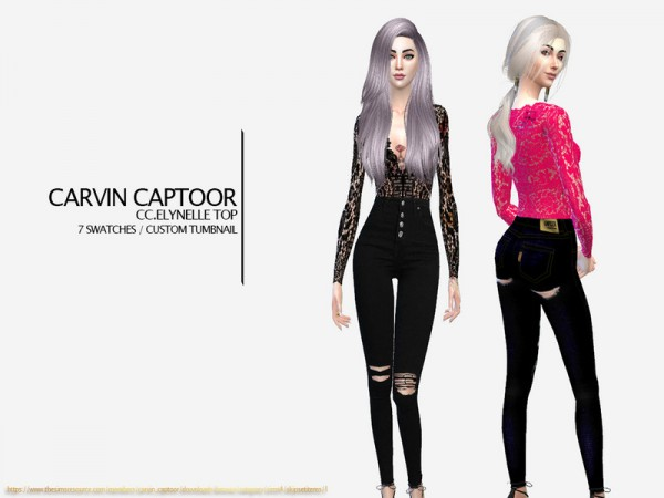 The Sims Resource: Elynelle top by carvin captoor