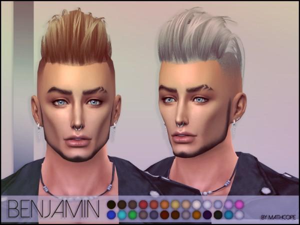 Sims Studio: Benjamin Hair by mathcope
