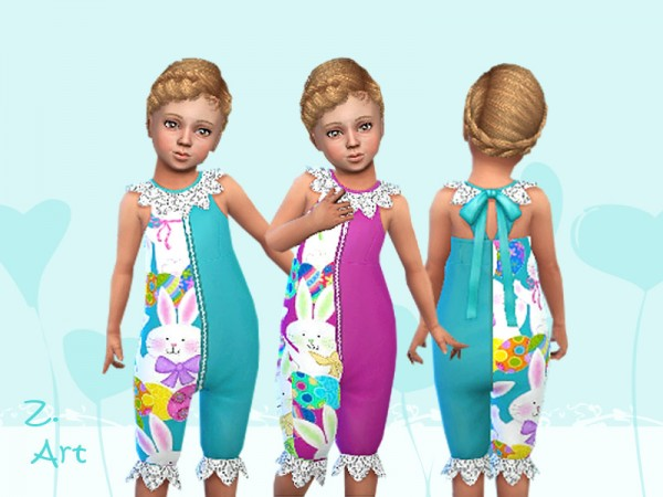 The Sims Resource: Outfit with funny bunny print by Zuckerschnute20