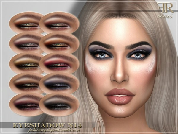 The Sims Resource: Eyeshadow N14 by FashionRoyaltySims
