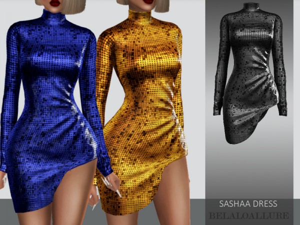 The Sims Resource: Sashaa dress by belal1997