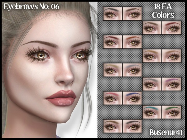 The Sims Resource: Eyebrows N06 by busenur41