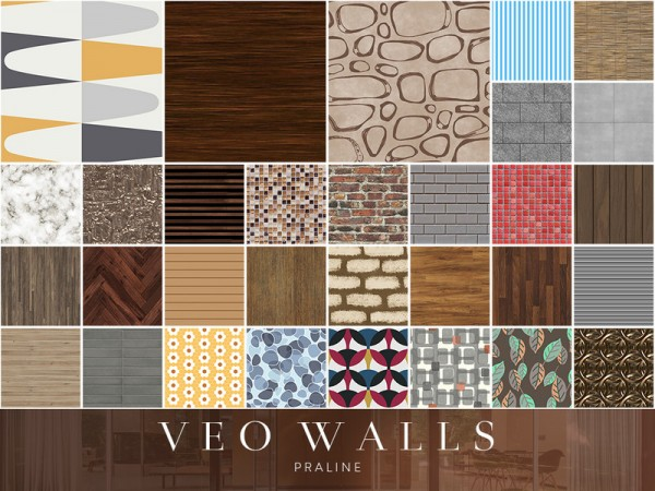 The Sims Resource: Veo Walls by Pralinesims