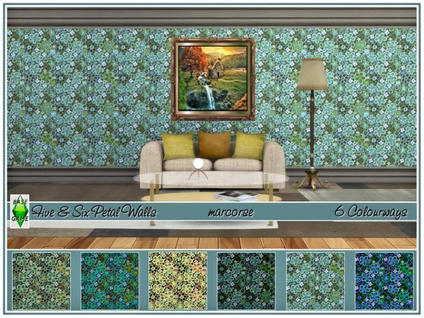 The Sims Resource: Five and Six Petal Walls by marcorse