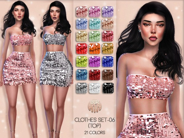 The Sims Resource: Clothes  set 06 top by busra tr
