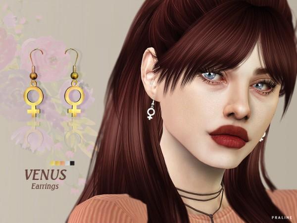 The Sims Resource: Venus Earrings by Pralinesims
