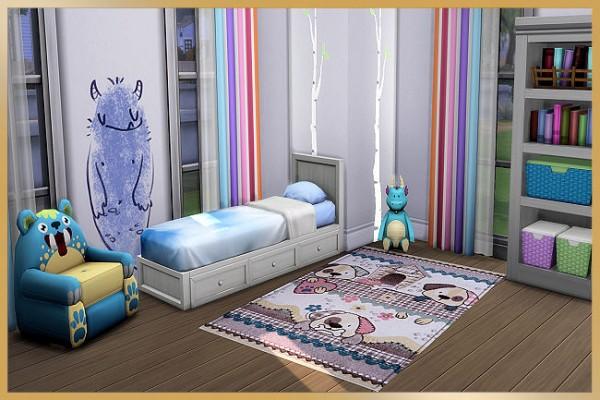 Blackys Sims 4 Zoo: Kids rugs pastell by MissFantasy