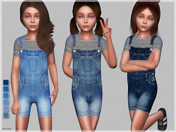 MSQ Sims: Children Dungaree N01