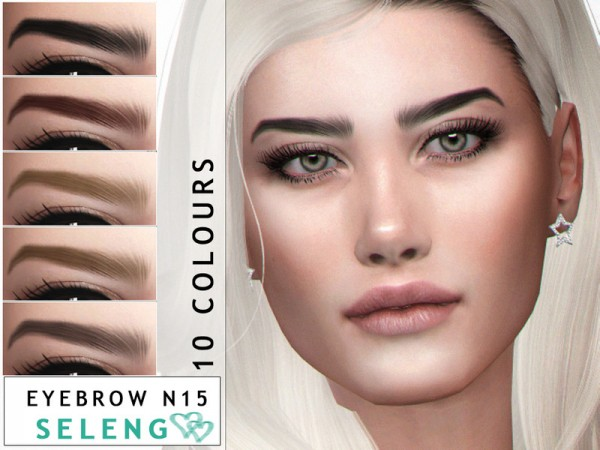The Sims Resource: Eyebrows N15 by Seleng