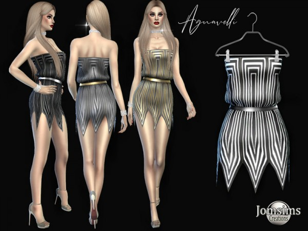 The Sims Resource: Agnavelli dress by jomsims