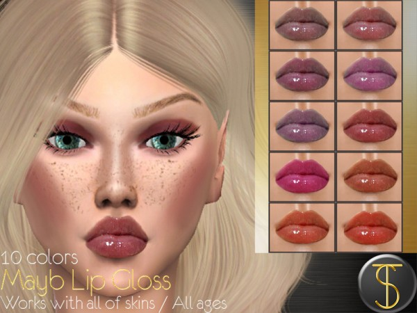 The Sims Resource: Mayb Lip Gloss by turksimmer