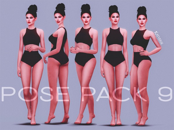 The Sims Resource: Pose Pack 9 by KatVerseCC