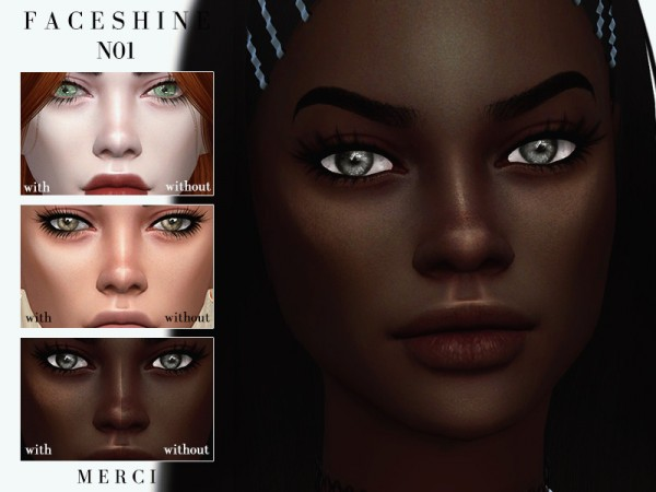 The Sims Resource: Face Shine N01 by Merci