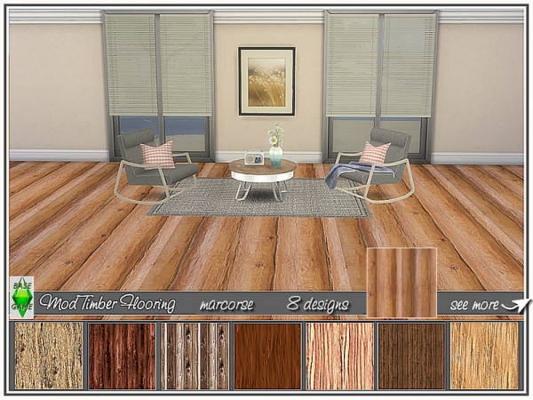 The Sims Resource: Mod Timber Flooring by marcorse