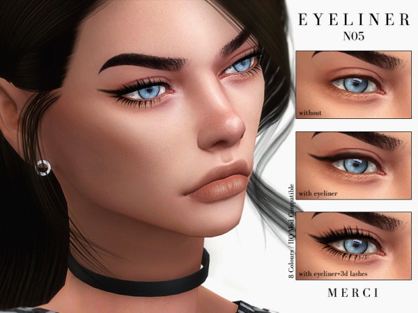 The Sims Resource: Eyeliner N05 by Merci