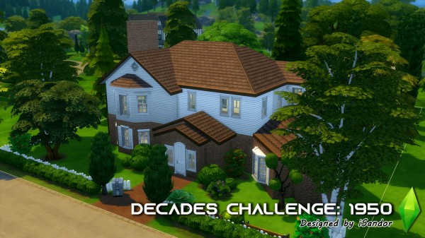 Mod The Sims: The decades challenge: 1950s house   NO CC by iSandor