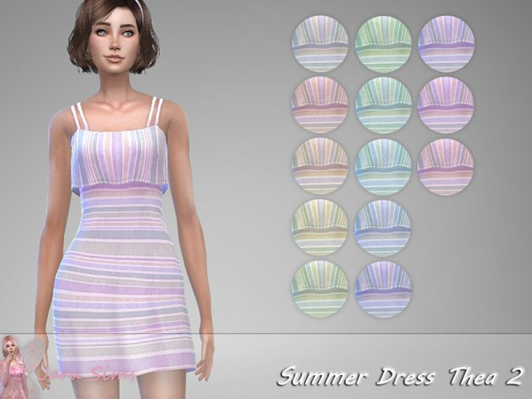 The Sims Resource: Summer Dress Thea 2 by Jaru Sims