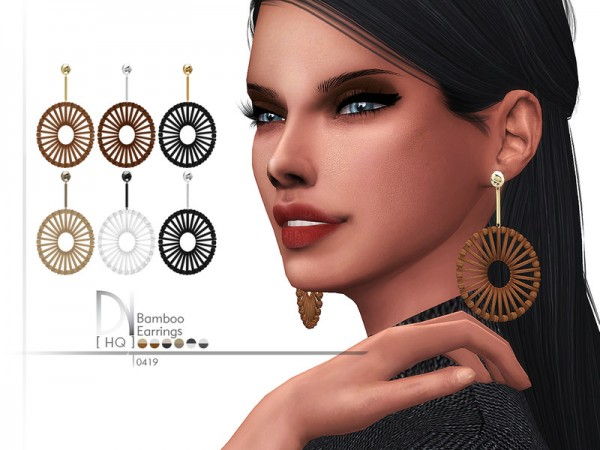The Sims Resource: Bamboo Earrings by DarkNighTt