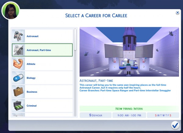 Mod The Sims: Part time Astronaut Career by Arialyx