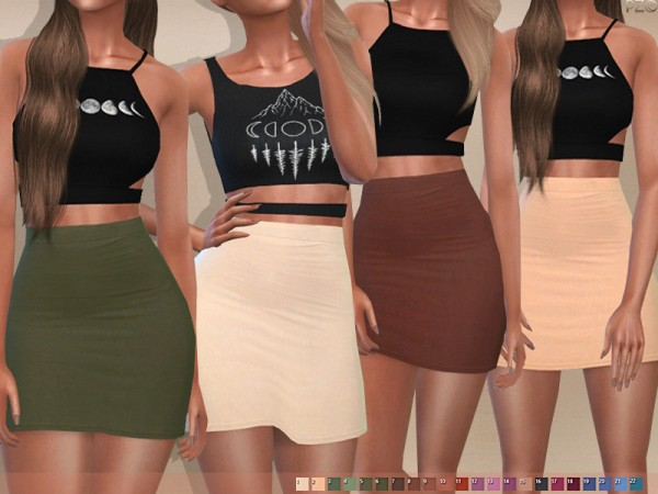 The Sims Resource: 096 High Waisted Skirt by Pinkzombiecupcakes