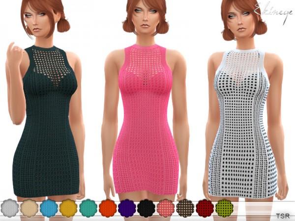 The Sims Resource: Open Knit Dress by ekinege