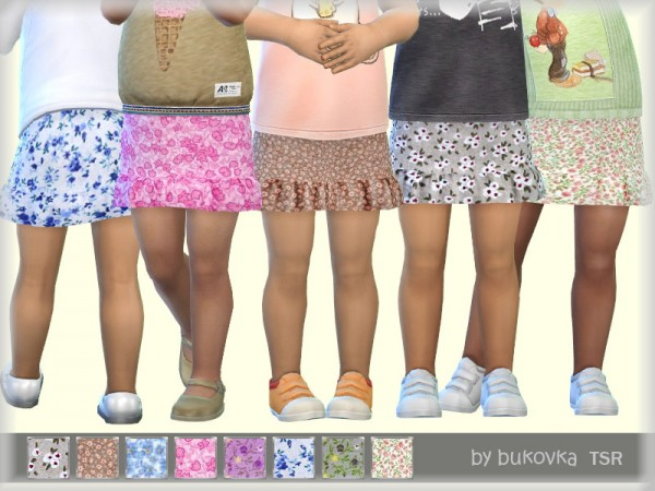 The Sims Resource: Skirt Flowers by bukovka