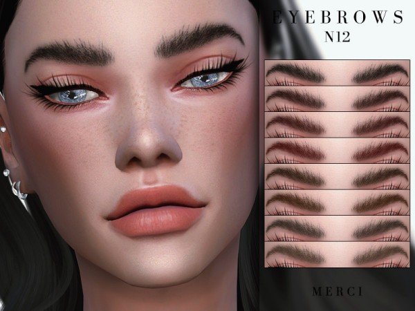 The Sims Resource: Eyebrows N12 by Merci