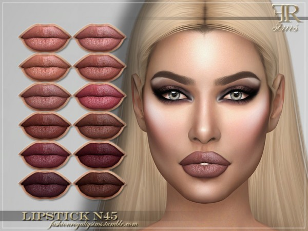 The Sims Resource: Lipstick N45 by FashionRoyaltySims