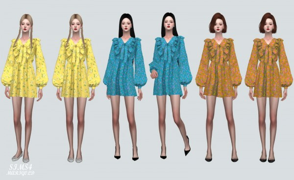 SIMS4 Marigold: Spring Mini Dress