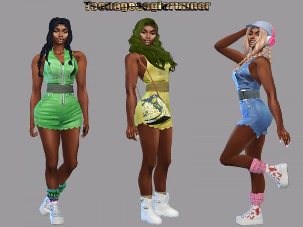 The Sims Resource: Zoe Romper Recolored by Teenageeaglerunner