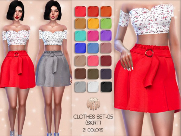 The Sims Resource: Clothes set 5   skirt by busra tr
