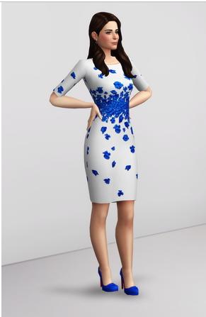 Rusty Nail: Blue Lasa Poppy Dress