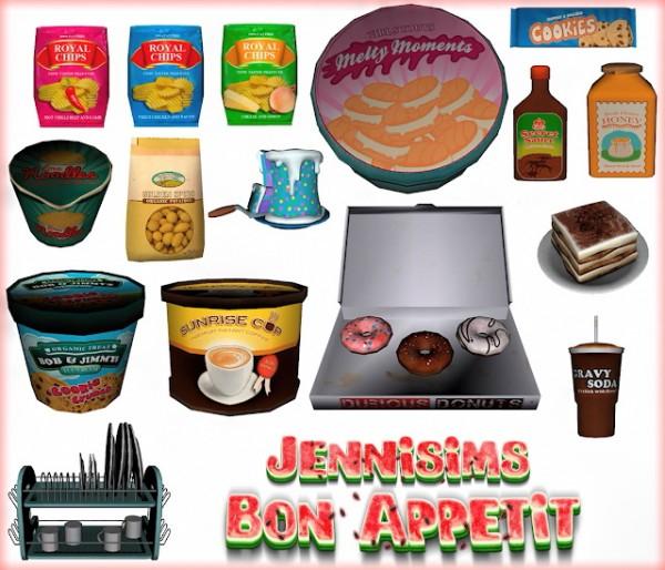 Jenni Sims: Bon Appetit Decorative set for Clutter Kitch