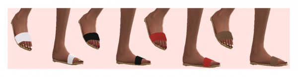 Sims 4 Sue: Madlen`s Dantel Slippers Recolored