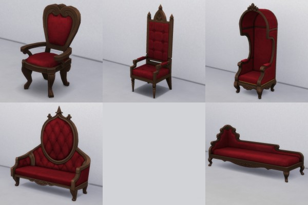 Mod The Sims: Gothic Seating Recolors by TheJim07