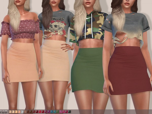 The Sims Resource: High Waisted Skirt 090 by Pinkzombiecupcakes