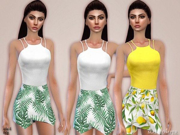 The Sims Resource: Mae Romper by Black Lily