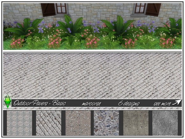 The Sims Resource: Outdoor Pavers Basic by marcorse