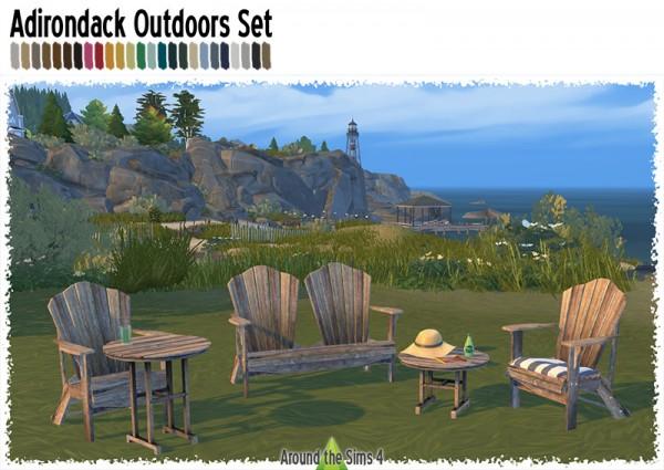 Around The Sims 4: Adirondack Outdoors set