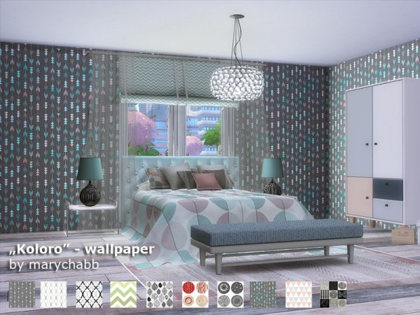 The Sims Resource: Koloro Wallpaper by marychabb