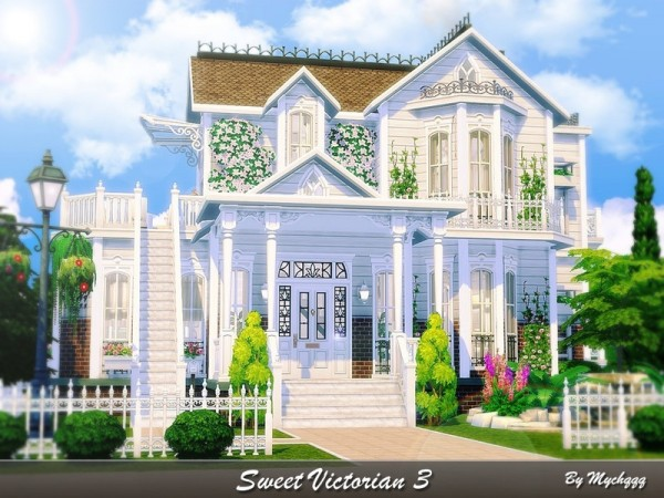 The Sims Resource: Sweet Victorian House 3 by MychQQQ