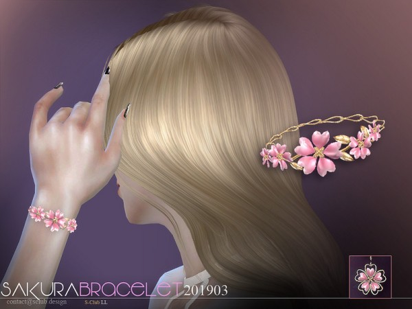 The Sims Resource: Bracelet 201903 by S Club