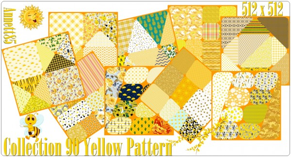 Annett`s Sims 4 Welt: Collection 90 Yellow Pattern
